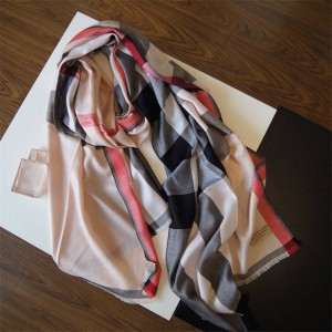 Burberry代购正品官网巴宝莉围巾新款海洋之心钻石纹羊绒大披肩