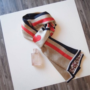 Burberry中文官网博柏利巴宝莉披肩新款TB徽标印花真丝双层围巾