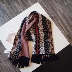 Burberry/巴宝莉官网正品代购专属标识条纹羊绒围巾80186151