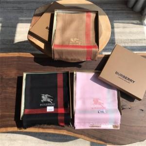 Burberry/巴宝莉中文官网代购正品经典格纹战马标识提花羊绒围巾