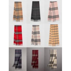 Burberry/巴宝莉代购官网专柜正品博柏利情侣款经典格纹羊绒围巾
