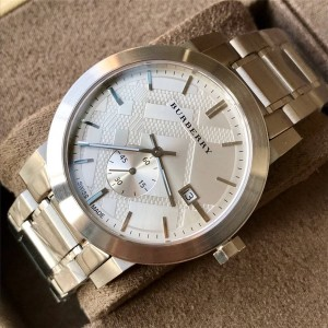 Burberry官网巴宝莉品牌新款博柏利男士手表精钢表带石英男表BU9900