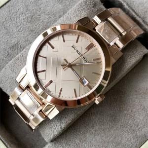 BURBERRY官网巴宝莉折扣店石英男表新款钢带男士手表腕表BU9034
