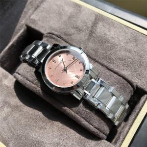 Burberry巴宝莉官网高仿女士手表欧美时尚钢带石英腕表手表BU9223