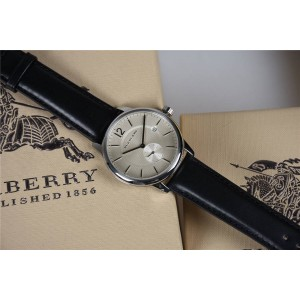 burberry欧洲官网巴宝莉博柏利男表手表新款薄款石英腕表BU10000