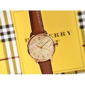 burberry法国官网巴宝莉博柏利女表手表新款薄款石英腕表BU10101