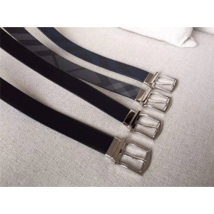 burberry中文官网巴宝莉男士皮带博柏利时尚经典新款格纹真皮35毫米腰带
