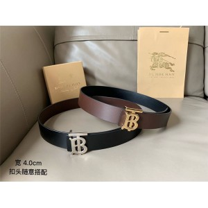 Burberry/巴宝莉官网皮带博柏利两面双用专属标识图案皮革腰带80098121