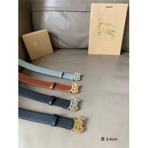 Burberry/巴宝莉官网英国代购博柏利皮带新款TB扣专属标识图案皮革腰带