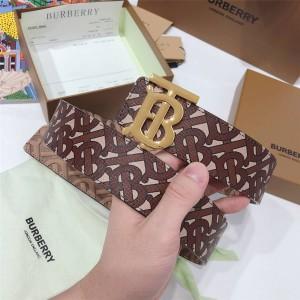 Burberry/巴宝莉皮带新款印花专属标识TB 3.5CM腰带