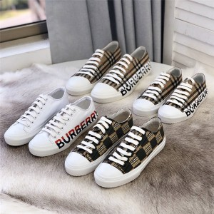 Burberry/巴宝莉中文官网板鞋Vintage格纹徽标印花棉质运动鞋80241491