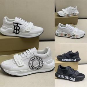 Burberry巴宝莉官方网站正品鞋子真皮印花LOGO徽标魔术贴运动鞋801997211