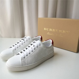 Burberry巴宝莉中文官网原单男鞋真皮打孔休闲运动鞋板鞋40584171/40585201