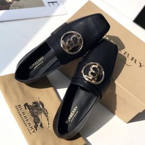 Burberry巴宝莉美国官网代购TB LOGO圆扣乐福鞋平底鞋单鞋80246831