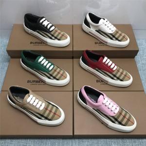 Burberry巴宝莉专柜价女鞋博柏利新款Vintage复古格纹拼接运动鞋休闲鞋