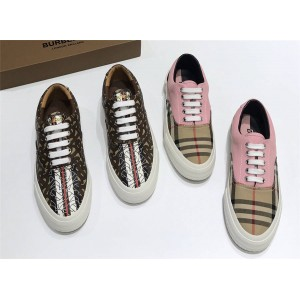 Burberry巴宝莉官方网站女鞋博柏利TB专属标识条纹环保帆布运动鞋80187541