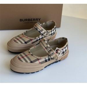 Burberry官网巴宝莉官方旗舰店鞋子Elstead Vintage Check玛丽珍鞋80243051