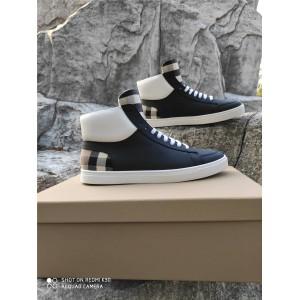 Burberry博柏利巴宝莉中国官网男鞋男士新款House格纹中帮板鞋运动鞋