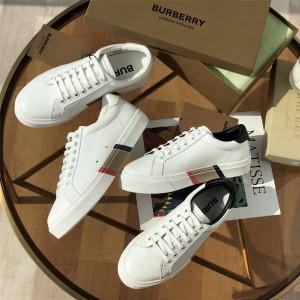 Burberry巴宝莉官网博柏利生物基鞋底皮革运动鞋80311701/80312211