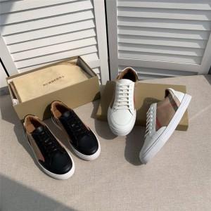 Burberry博柏利巴宝莉中文官网House 格纹拼皮革运动鞋80243261/80243311