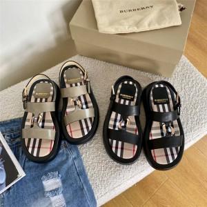 Burberry博柏利巴宝莉美国官方网情侣款帆布格纹运动凉鞋