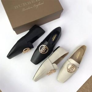 Burberry/博柏利巴宝莉官网女鞋真皮TB LOGO圆扣乐福鞋80246831