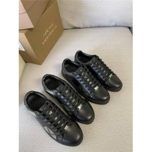 Burberry/巴宝莉中文官网正品新款男鞋格子拼皮男士运动鞋