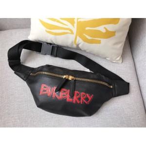 burberry中文官网巴宝莉博柏利男女通用撞色字母logo牛皮腰包跨包