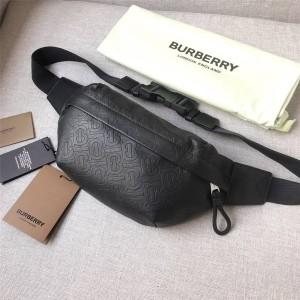 burberry官方旗舰店巴宝莉包包博柏利新款真皮压纹TB标识腰包挎包