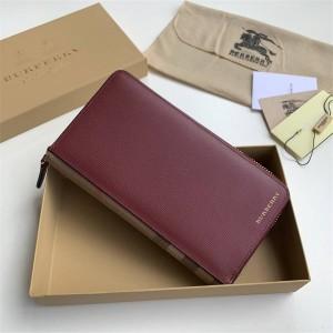 Burberry巴宝莉官方旗舰店博柏利新款长款钱包真皮大号拉链钱夹39961931