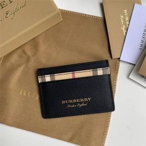 burberry巴宝莉正品新款博柏利London 格纹拼皮革卡片夹卡包40652361