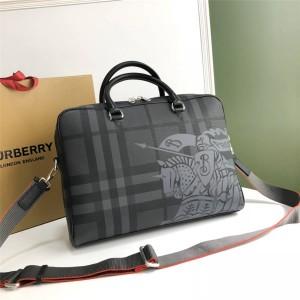Burberry官网巴宝莉新款包包男包London 格纹战马公文包8005525