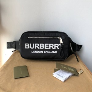 Burberry官网巴宝莉包包图片徽标印花 ECONYL® 腰包80210891/80146031