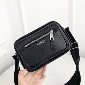 BURBERRY官网巴宝莉新款包包博柏利代购网站男士真皮相机包斜背包80265551