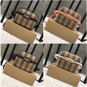 Burberry巴宝莉官方网站博柏利1983 格纹皮革装饰链环腰包80073521/80073501