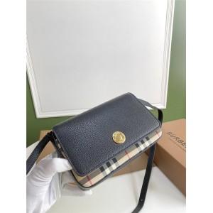 Burberry巴宝莉官方网站博柏利Vintage格纹拼皮革小号斜跨包80232261/80251611