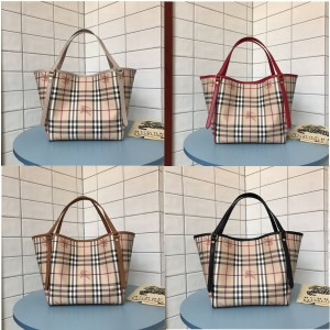 Burberry巴宝莉美国官网博柏利女包经典款Vintage战马格纹购物袋