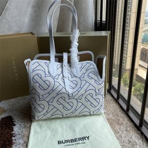 BURBERRY官网巴宝莉价格The Belt中号柔软棉质贝尔特包购物袋80302891