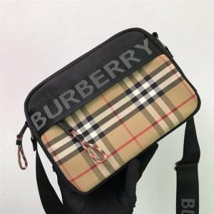 Burberry官网巴宝莉包包价格博柏利新款男士相机包复古格纹斜挎包