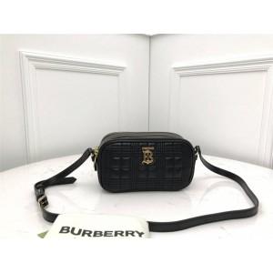 Burberry博柏利巴宝莉正品官网新款迷你绗缝羔羊皮相机包80233391