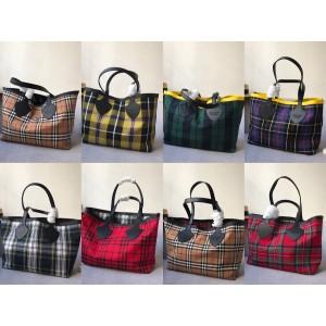 Burberry官网巴宝莉女包代购格纹双面兩用托特包购物袋4069796/4069608
