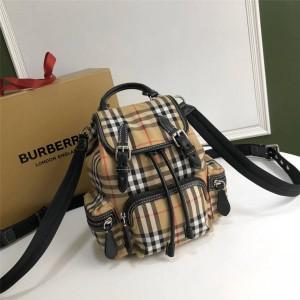 Burberry官网巴宝莉专柜价三用双肩包小号Vintage格纹军旅背包40784711