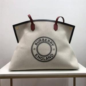 Burberry正品巴宝莉英国官网Society徽标图案帆布赛尔迪托特包80321681