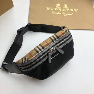 Burberry博柏利巴宝莉中文官方网中号Vintage复古格纹腰包