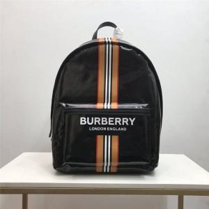 Burberry/巴宝莉中文官网正品新款徽标拼标志条纹双肩包80300151
