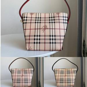 Burberry博柏利巴宝莉官方网站女包新款中古格纹单肩包购物袋