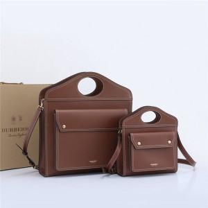 Burberry官网博柏利和巴宝莉的区别缉明线皮革口袋包80147761/80359991