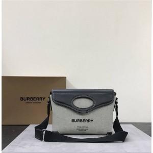 Burberry官网巴宝莉包包博柏利Horseferry 印花帆布口袋信使包80416681