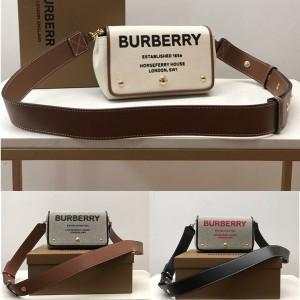 burberry品牌巴宝莉官网小号Horseferry印花棉质帆布斜背包80266081/80398691