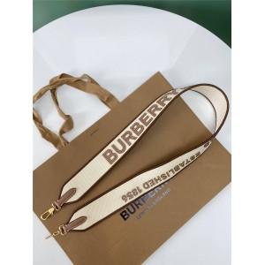 burberry英国官网巴宝莉代购棉质帆布拼皮革口袋包背带肩带80432421